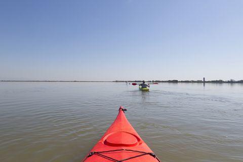 Kayak, Vehicle, Boat, Kayaking, Boating, Watercraft, Sea kayak, Outdoor recreation, Recreation, Water sport,
