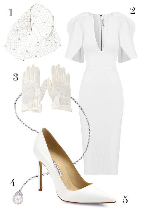 maticevski dress, jennifer behr veil headband, manolo blahnik pumps, assael lariat, thrilling vintage gloves