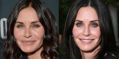 Courtney Cox before and after