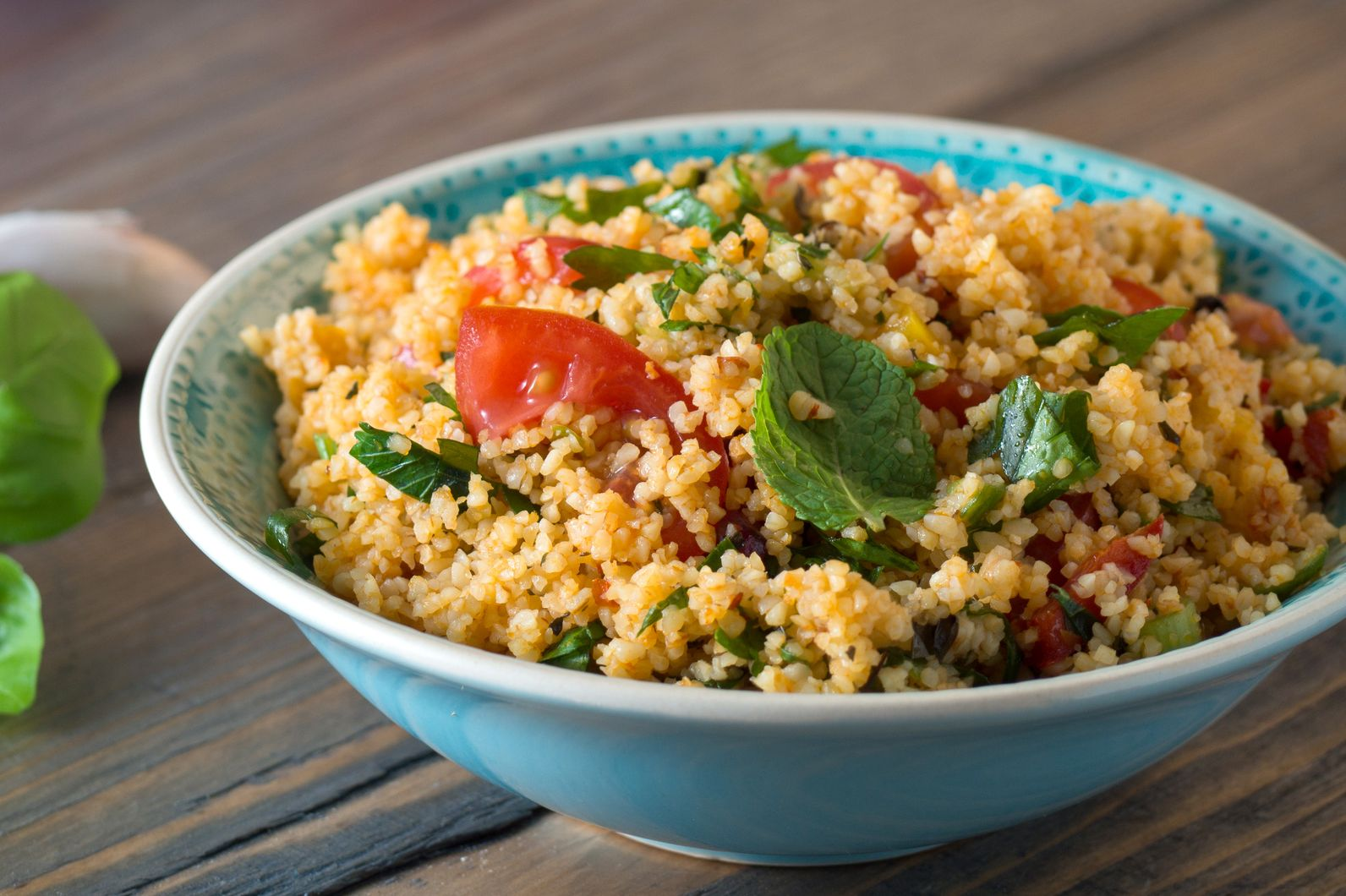 Couscous with tomatoes and basil