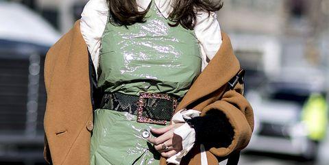 Street fashion, Green, Fashion, Outerwear, Photography, Waist, Abdomen,