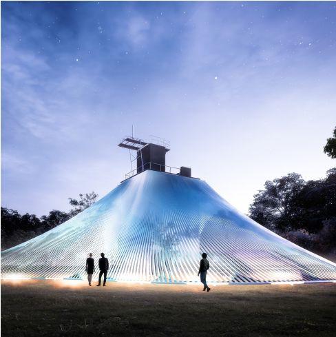 2019桃園地景藝術節,以「保一總隊大湳舊營區」作為核心展區,當中「大湳森之光」的光雕展演更是請到歌手魏如萱獻聲揭開序幕,體現獨特的人文特色與地貌生態。