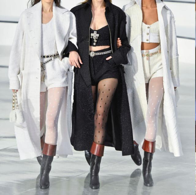 Clothing, White, Fashion, Fashion model, Leg, Outerwear, Headgear, Street fashion, Human leg, Hat,