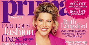 Prima November issue, Ruth Langsford