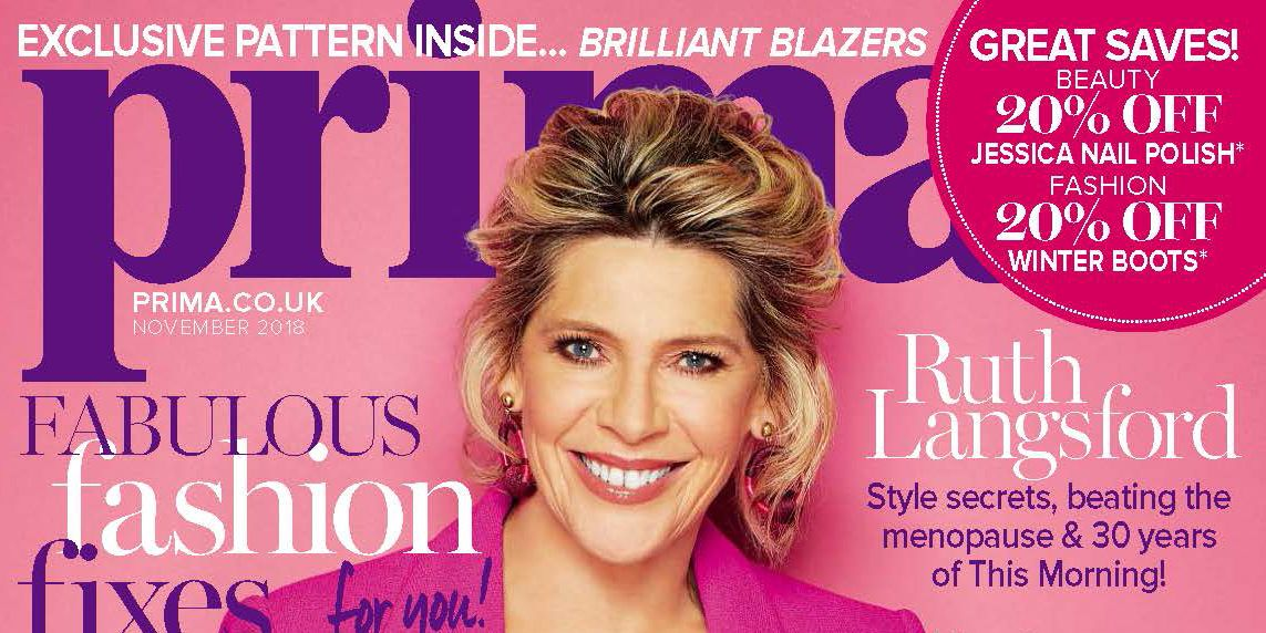 Prima November issue, Ruth Langsford