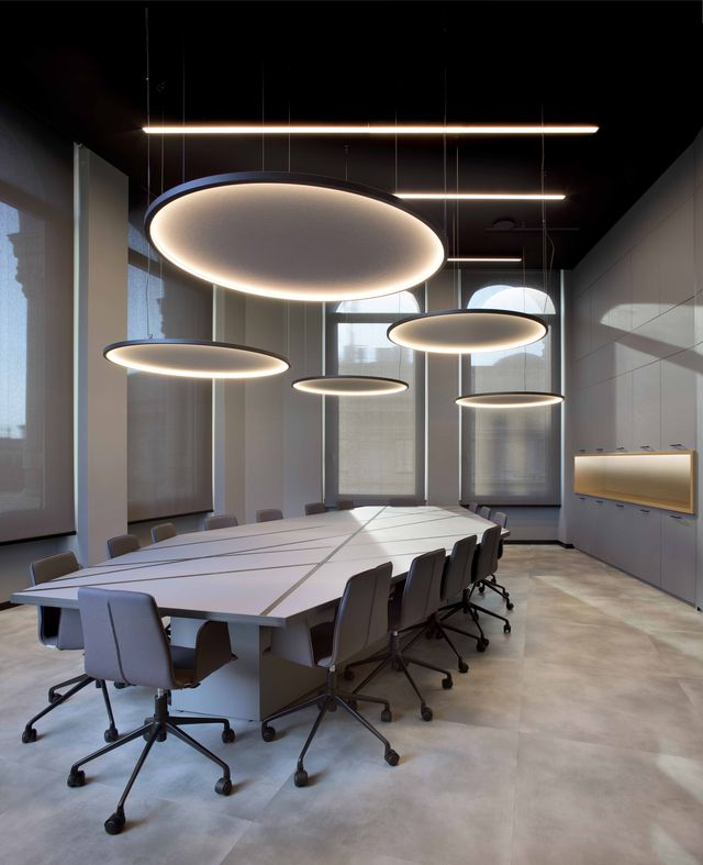 Interior design, Floor, Room, Furniture, Table, Wall, Space, Material property, Design, Plywood,