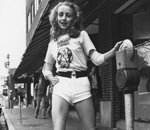 Photograph, Snapshot, Black-and-white, Photography, Monochrome, Waist, Style, Shorts, Street,