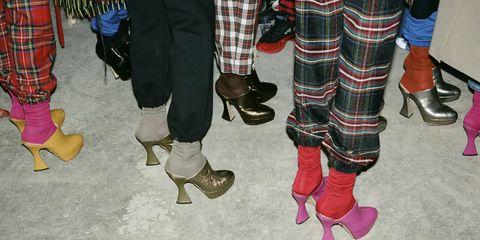 Tartan, Plaid, Footwear, Pattern, Shoe, Textile, Leg, Design, Human leg, Ankle,