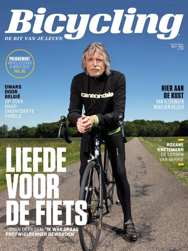 johan derksen op de cover van nieuwe bicycling