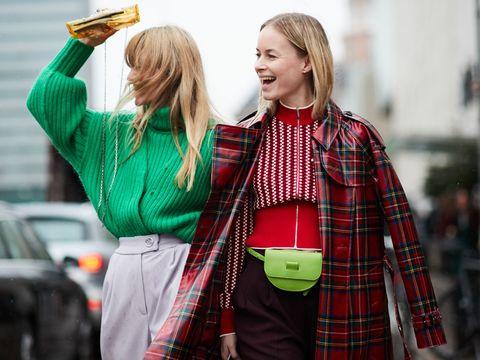 Tartan, Plaid, Street fashion, Green, People, Pattern, Red, Fashion, Textile, Design,