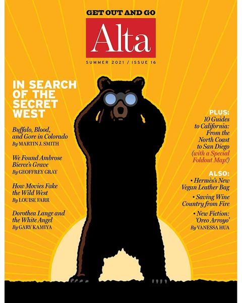 alta journal, cover, summer 2021, issue 16, in search of the secret west