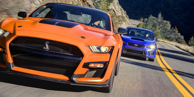 Unexpected Rivals: Ford Mustang Shelby GT500 vs. 2019 Subaru STI S209