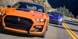Ford Mustang ShelbyGT500 vs. Subaru STI S209