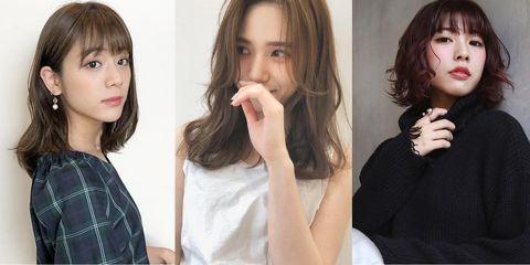 Hair, Hairstyle, Lip, Chin, Beauty, Nose, Long hair, Step cutting, Brown hair, Bangs,