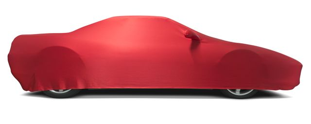 covered sports car   isolated