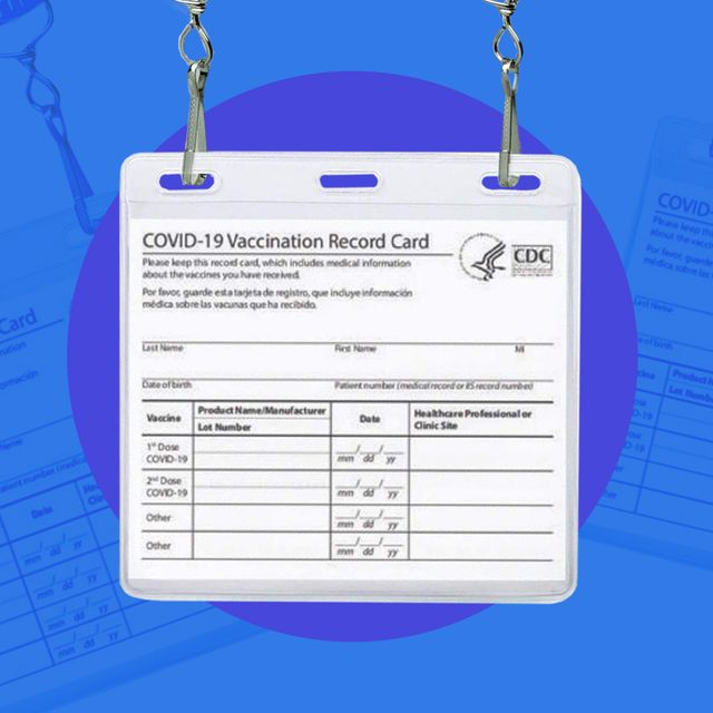 specialist id covid vaccination card holder on lanyard