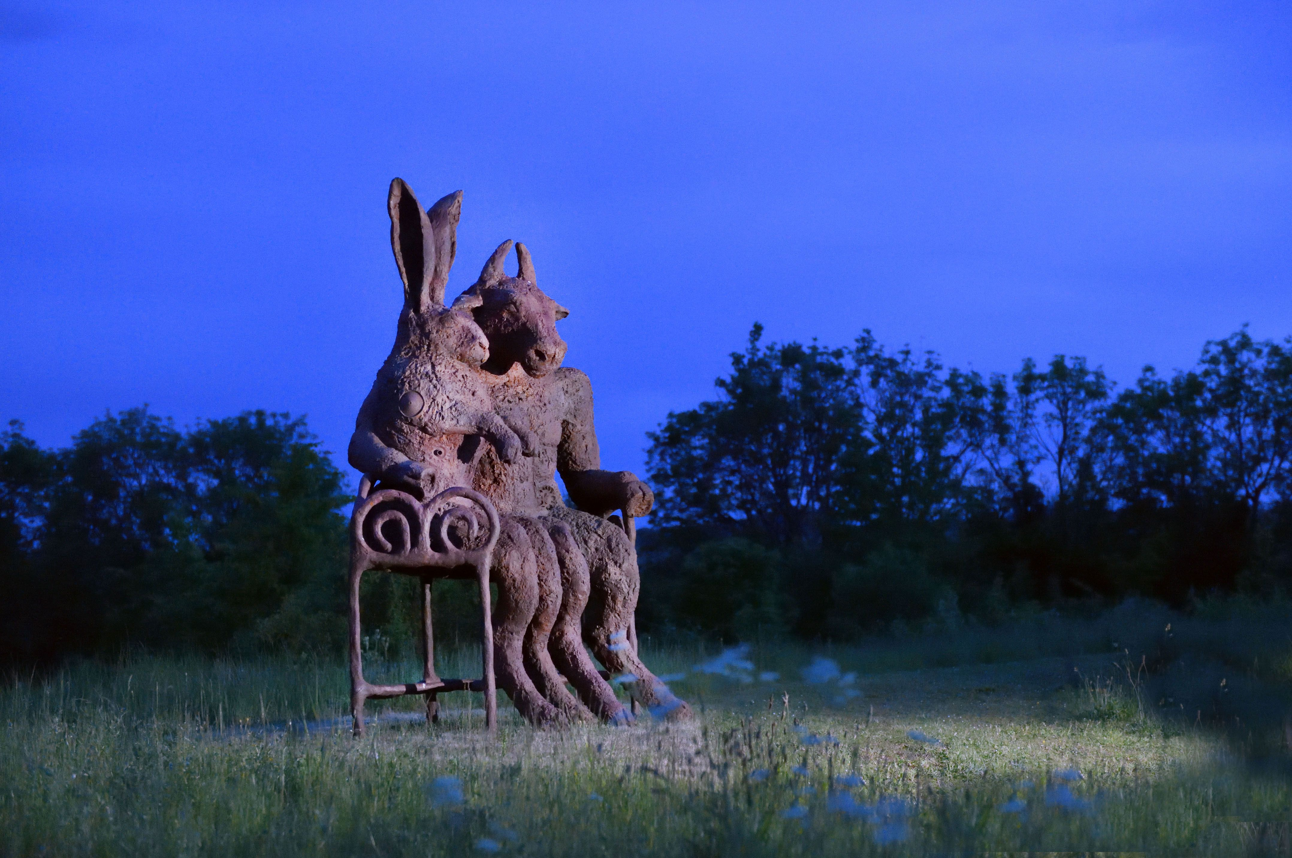 Dramatic sculptures go on show in St James's Square