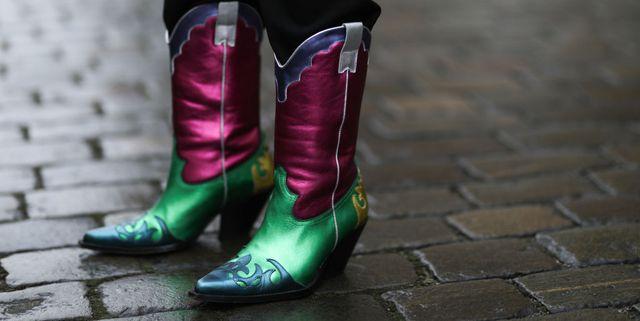 cowboy boots met metallic kleuren