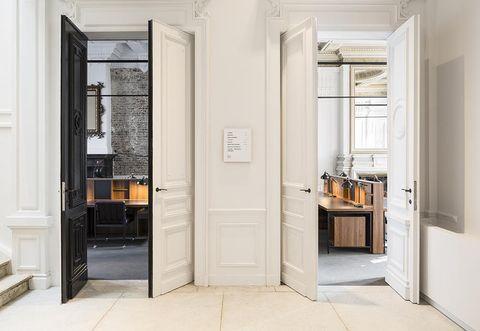 Room, Door, Property, Building, Interior design, Floor, Furniture, Material property, Real estate, House,