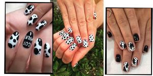 Cow Print Nail Trend
