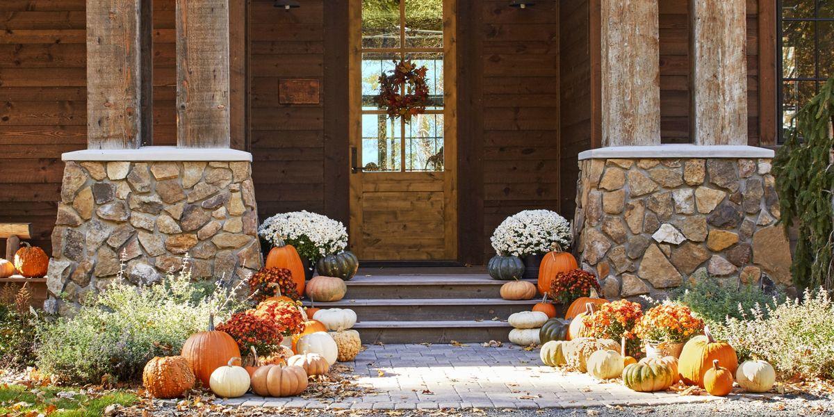 Modern Vintage Home Decor Ideas: 55 Fall Porch Decorating Ideas