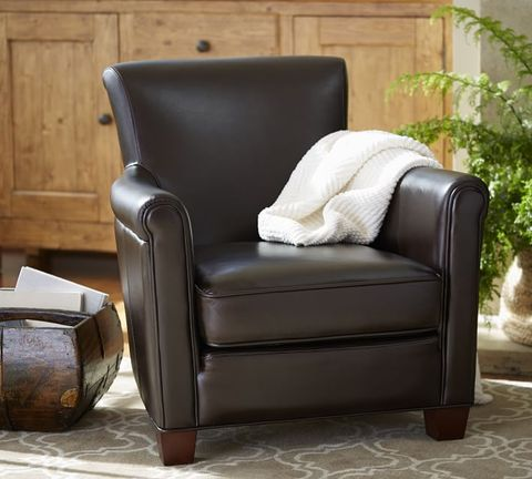 Cozy Chairs Pottery Barn Irving Leather Armchair