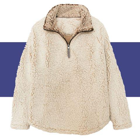 sam's club cozy fleece pullover jacket