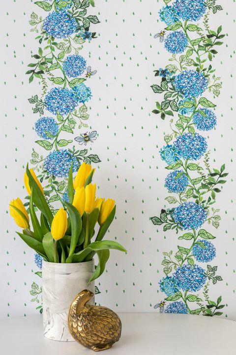 ariel okin chasing paper hydrangea wallpaper