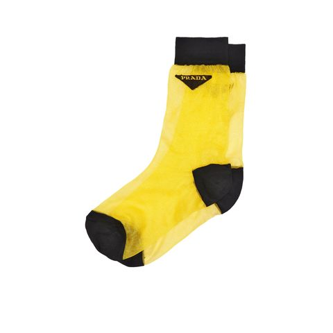 Yellow, Footwear, Sock, Personal protective equipment, Shoe, Fashion accessory,