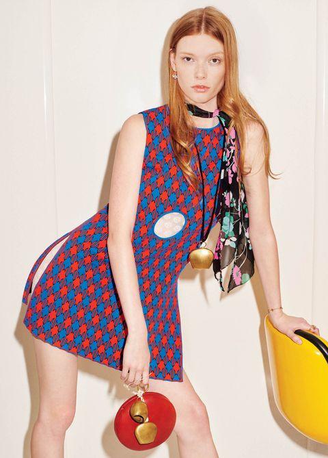 Clothing, Polka dot, Design, Neck, Footwear, Pattern, Human leg, Long hair, Finger, Shoe,