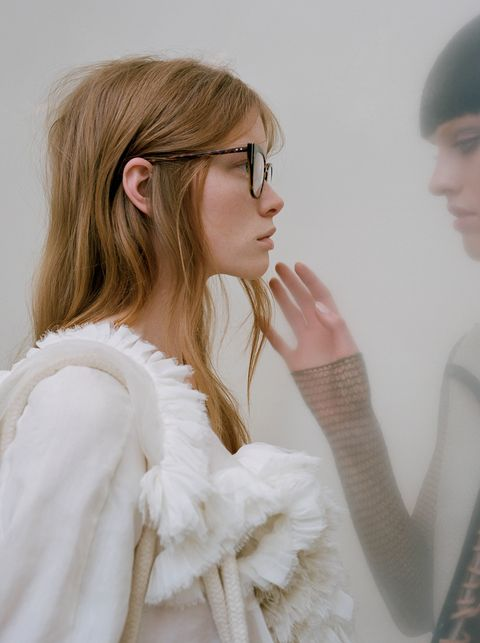 White, Clothing, Shoulder, Fashion, Orange, Pink, Outerwear, Eyewear, Street fashion, Dress,