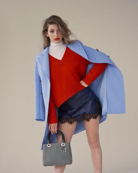 Clothing, Blue, Fashion model, Electric blue, Cobalt blue, Fashion, Outerwear, Fashion design, Leg, Costume,