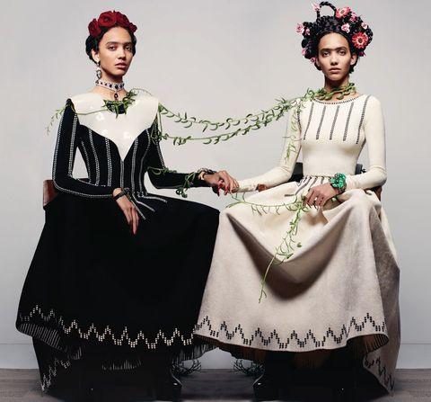 Clothing, Victorian fashion, Fashion, Headpiece, Dress, Formal wear, Fashion design, Costume design, Sleeve, Tradition,