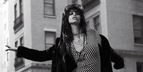 Window, Jewellery, Monochrome, Style, Street fashion, Monochrome photography, Black-and-white, Necklace, Goth subculture, Fashion design,
