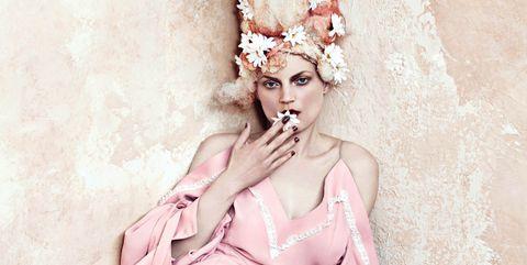 Pink, Beauty, Headpiece, Illustration, Fashion, Dress, Fashion design, Headgear, Fashion illustration, Victorian fashion,