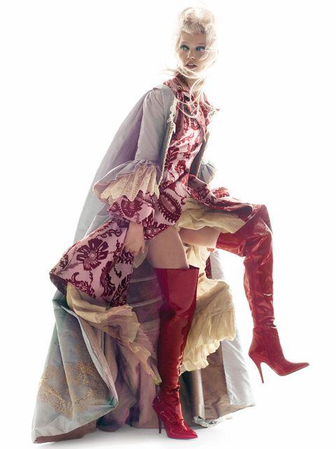 Clothing, Fashion, Costume design, Fashion design, Outerwear, Victorian fashion, Dress, Footwear, Costume, Fashion model,