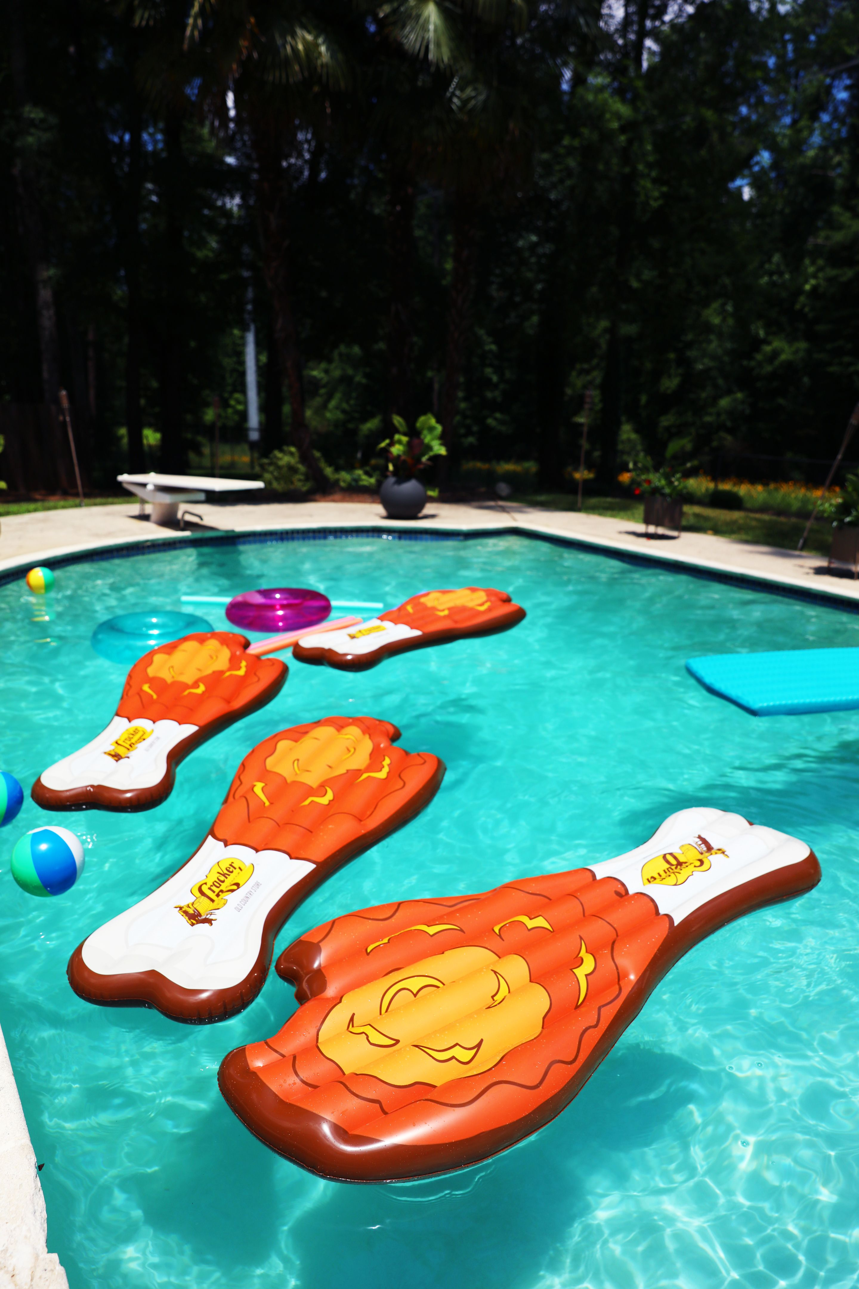 bca637f55b How To Enter To Win A Limited Edition Cracker Barrel Fried Chicken Pool  Float