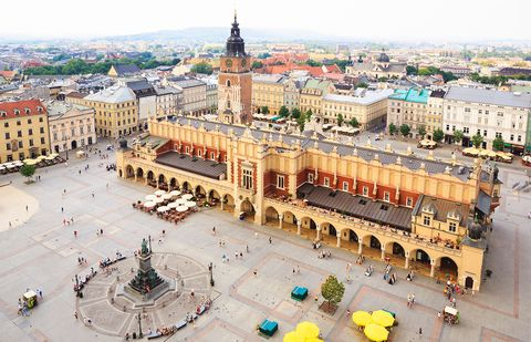 Cracovia Polonia Plaza del Mercado
