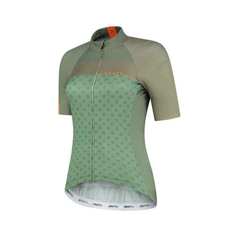 craft lmtd fietsshirt korte mouwen dames groen shirt wielrennen