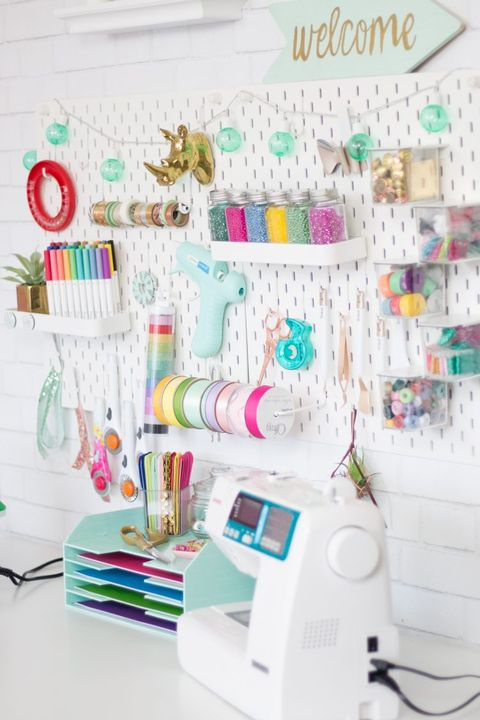 craft room organization - supplies