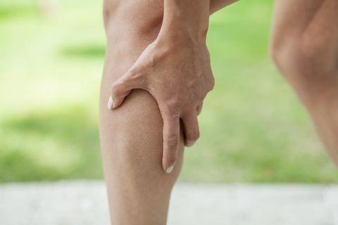 cramp in leg calf during sports activity