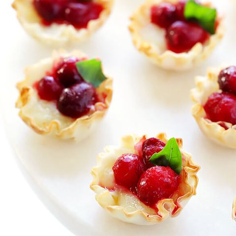 Cranberry Baked Brie Bites