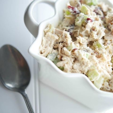 turkey cranberry salad - thanksgiving leftovers