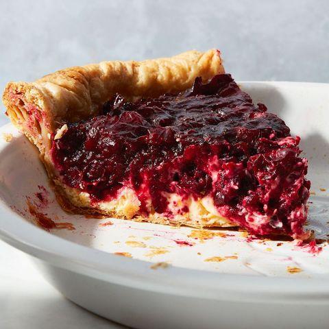 cranberry orange pie one slice