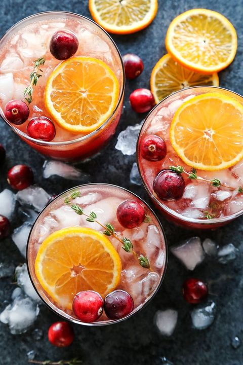 cranberry thyme gin and tonic fall cocktails