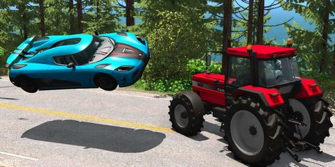 Tractor, Motor vehicle, Vehicle, Mode of transport, Agricultural machinery, Car, Tire, Automotive tire, Play,