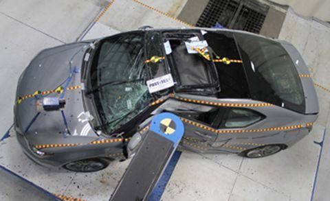 side barrier crash test