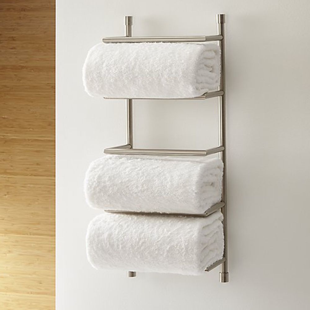 Crate U0026 Barrel Brushed Steel Wall Mount Towel Rack