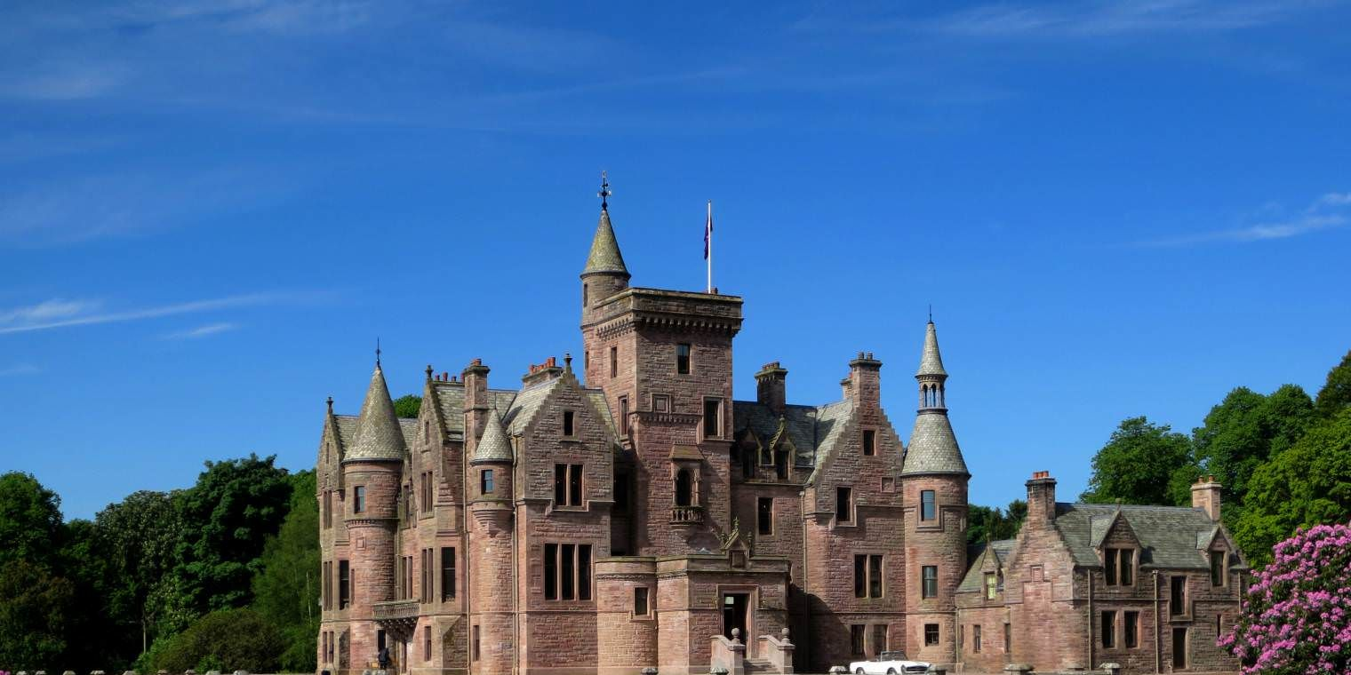 Crawfordton House, Scottish Baronial Mansion House - castle