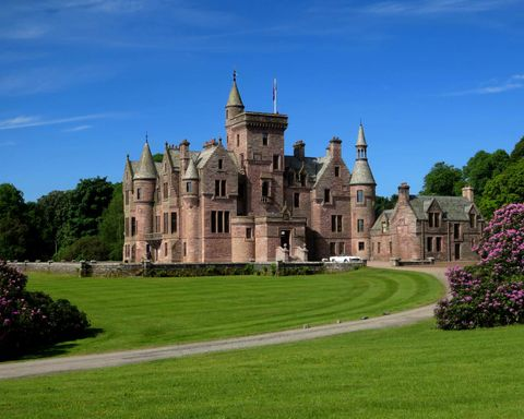 Crawfordton House, Scottish Baronial Mansion House - castle
